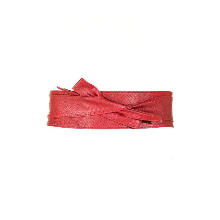 Cinturon con textura rojo