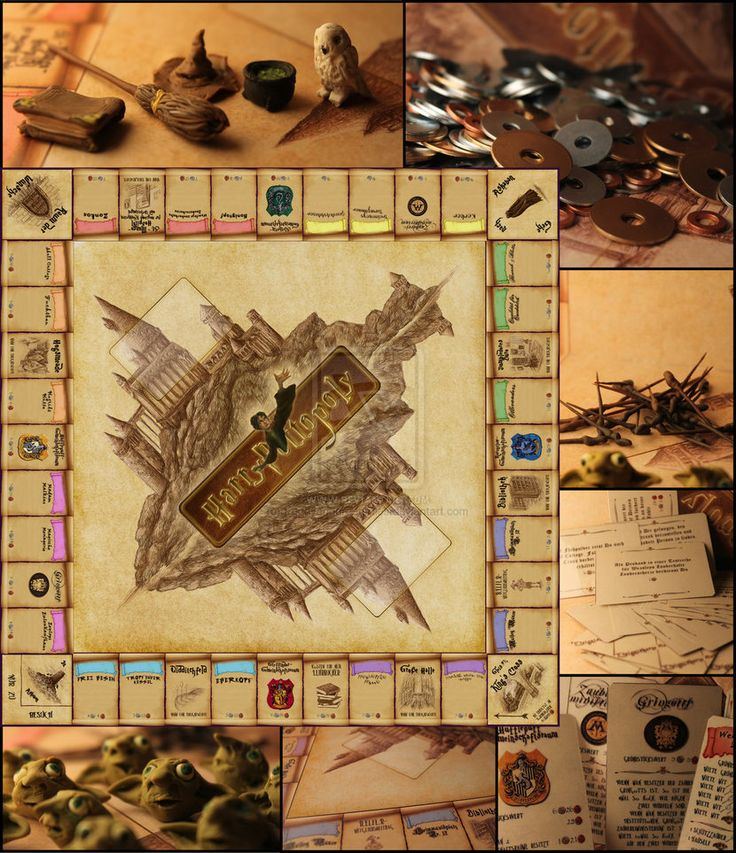 harry potter monopoly | ... harry potter monopoly board and cards designed in photoshop figures