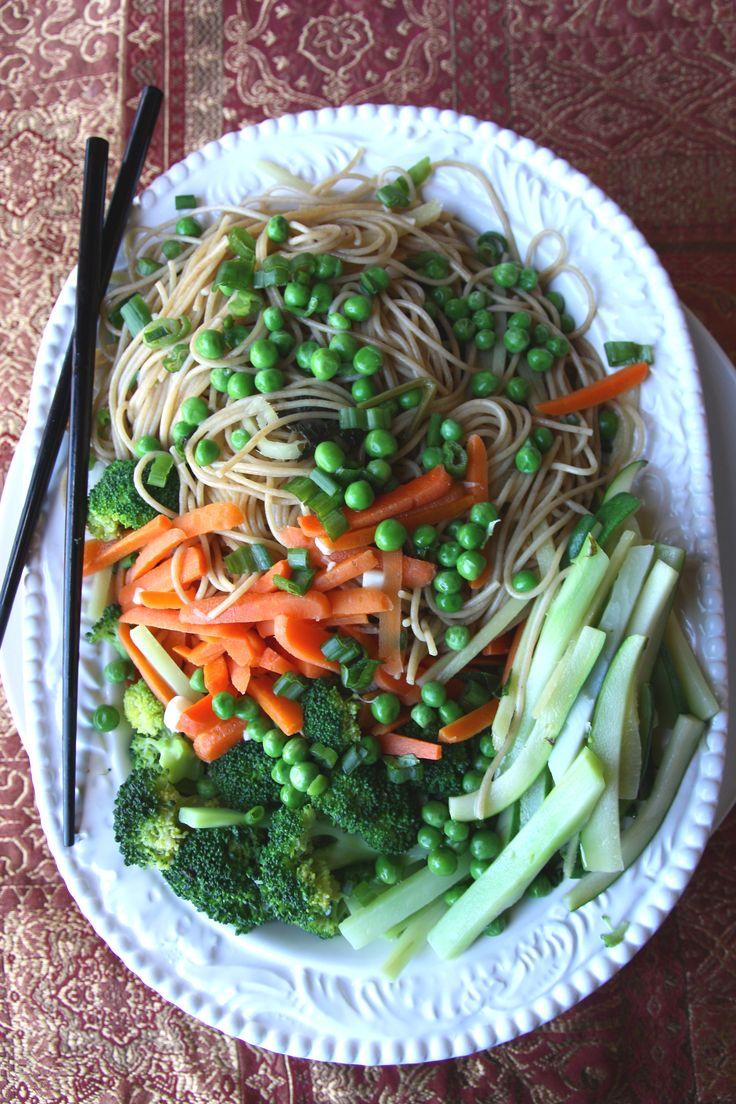 Ginger Sesame Veggie Noodle Bowl