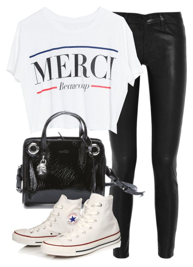 """Untitled #16428"" by florencia95 ❤ liked on Polyvore featuring Christian Louboutin, Lovers + Friends, Alexander McQueen and Converse"