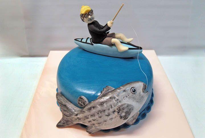 лучшее торт для рыбака из мастики фото организации