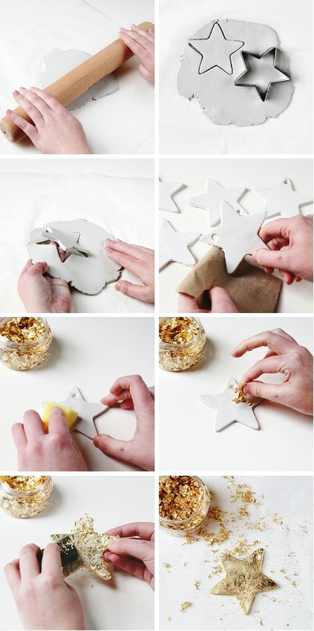 101 best craft and clay images on pinterest cold porcelain diy gold clay stars solutioingenieria Choice Image