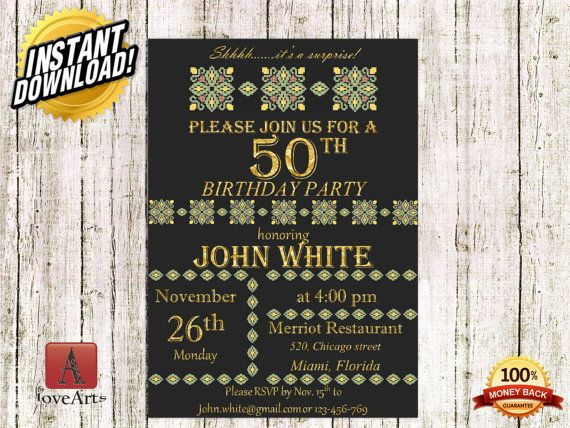 Hey, I found this really awesome Etsy listing at https://www.etsy.com/listing/231167201/instant-downoad-birthday-invitation-gold