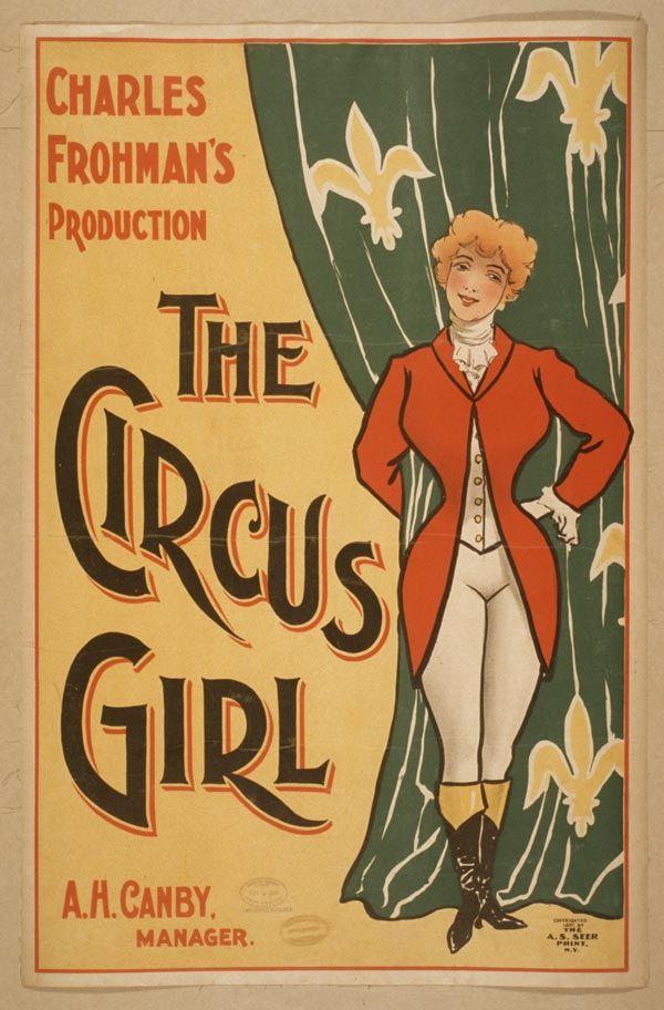 Cartaz vintage de circo