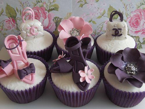 Fashion CupcakesShoes, Birthday, Handbags, Fashion Cupcakes, Parties, Cups Cake, Bridal Shower, Cupcakes Rosa-Choqu, Chanel Cupcakes
