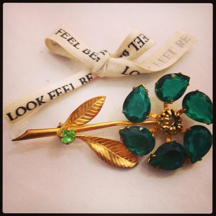 Vintage brooch - love $110 x