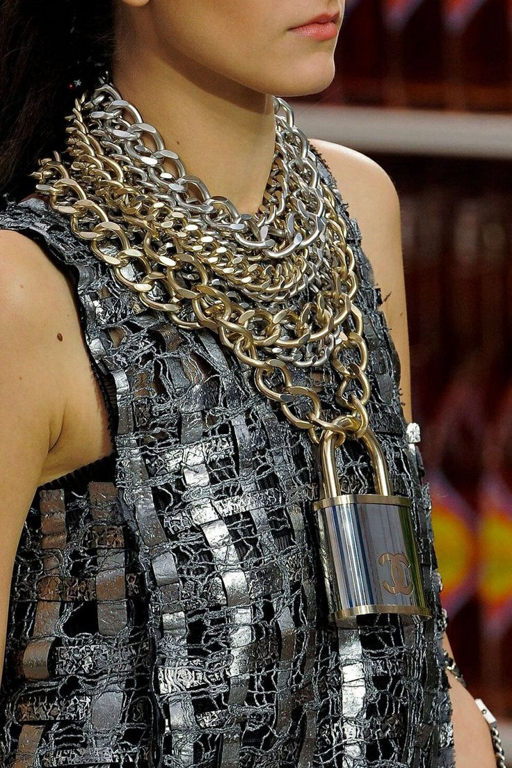 Chanel Padlock Necklace.