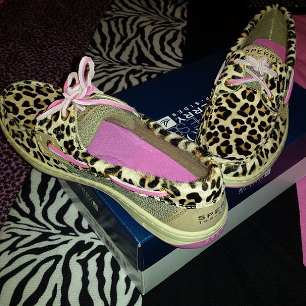 Leopard Sperrys.... I do believe I just found my new shoes lol