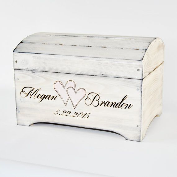 Medium Personalized Card Box in Shabby Chic by RoxyHeartVintage www.roxyheartvintage.etsy.com