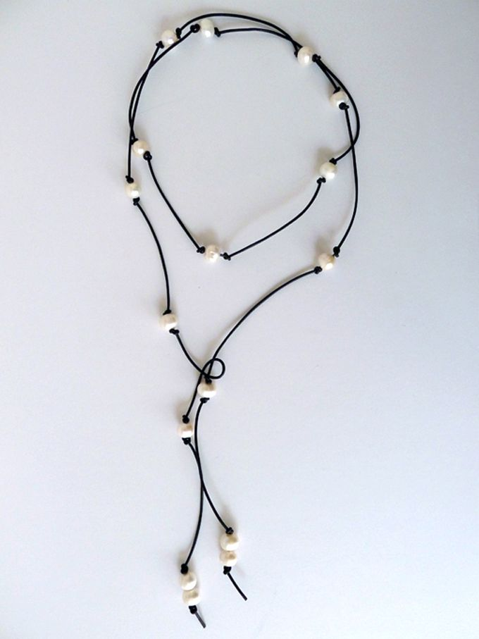Thanks, I Made It : DIY Knotted Leather Pearls via http://truebluemeandyou.tumblr.com/