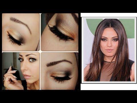 Smokey Seductive Amber Eye Make-Up Tutorial Mila Kunis Inspired