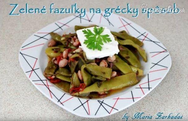 Zelené fazuľky na grécky spôsob
