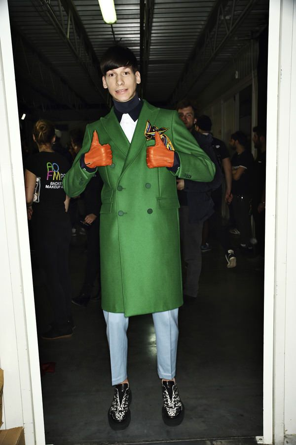 Andrea Pompilio Backstage, more pics here http://sonnyphotos.com/2014/01/andrea-pompilio-aw14-15-men-fashion-show-milan-backstage