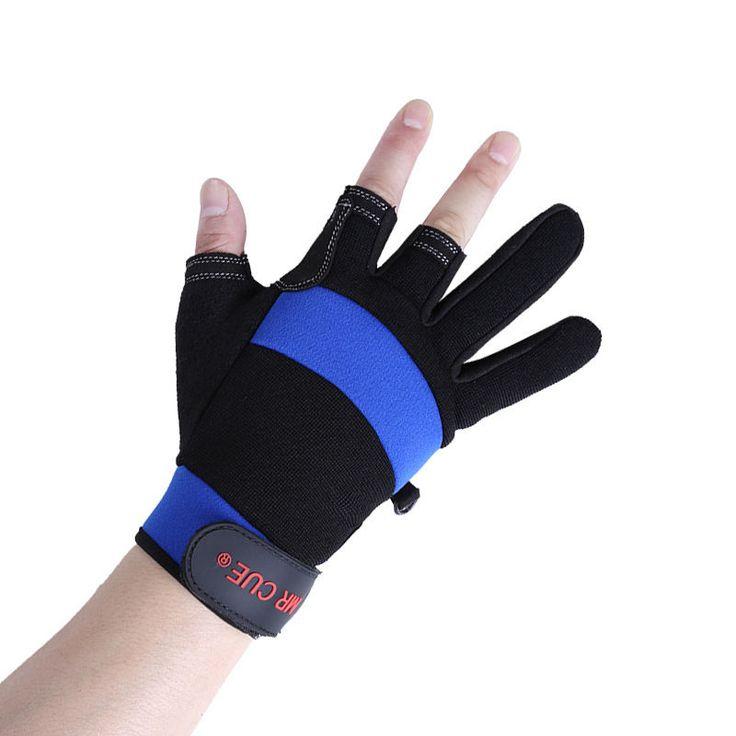 Fingerless Exposed Men&Women Breathable Fishing Glove Anti Slip Sailboat Sailing Fishing Autumn Winter Outdoor 3 cut Glove K8356