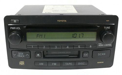 2003-2007 Toyota Sequoia Tundra Radio AM FM CD Cassette PN 86120-0C071 ID 16854