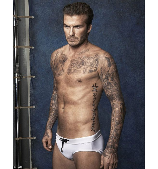 David Beckham Is Nearly Naked in New H&M Ad