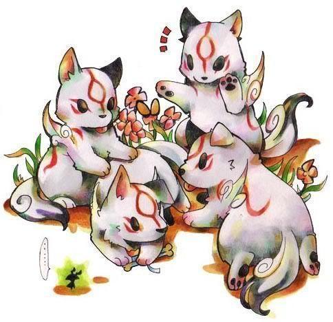 Okami Amaterasu: Amaterasu's puppies