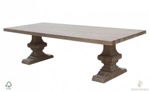 Eksklusivt, stort og lekkert Raffles spisebord produsert i eik. Bordet måler…
