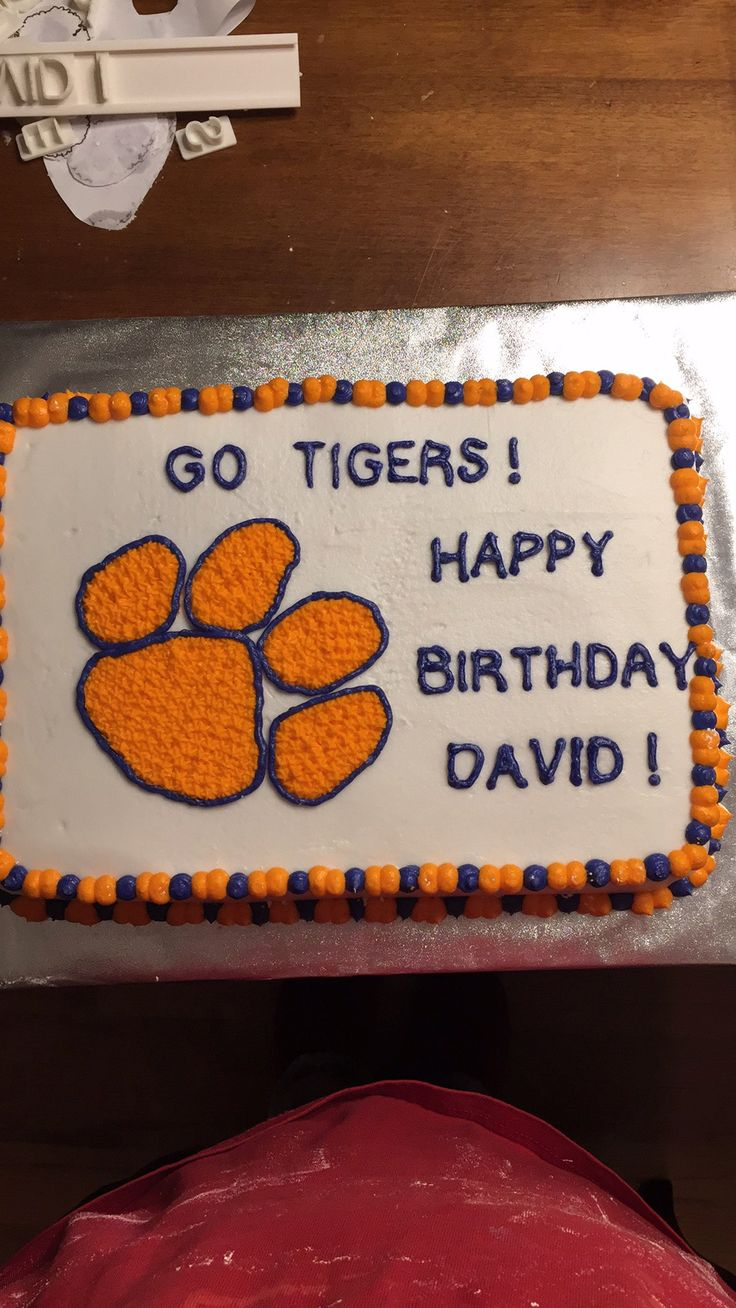 Best Cakes And Cupcakes Of Mine Images On Pinterest - Clemson birthday cakes