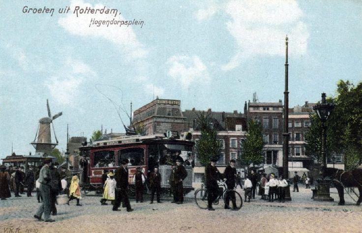 Hogendorpsplein, 1916. Tegenwoordig Churchillplein.