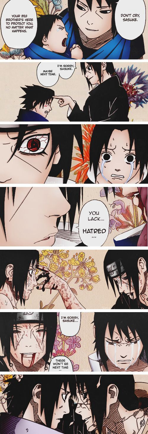 No matter what happens to you from here on out, I will always love you. (Itachi Uchiha)