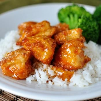 Sweet and Sour Chicken - 3-4 boneless, skinless chicken breasts (about 2 pounds) Salt and pepper 1 cup cornstarch 2 large eggs, beaten 1/4 cup canola, vegetable or coconut oil 3/4 cup granulated sugar 4 tablespoons ketchup 1/2 cup apple cider vinegar 1 tablespoon soy sauce 1 teaspoon garlic salt