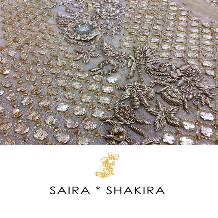 Sneak a peek! Some details are not to be missed.  #BridalSeason #BridalCollection #SairaShakira
