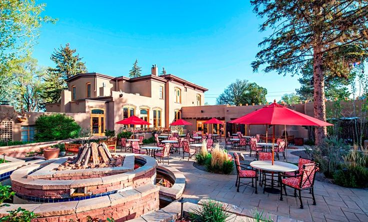TGIF!  It will be sunny in Santa Fe and in the 70s all weekend and the patio at La Posada is now open for breakfast, lunch, dinner and those all important drinks!