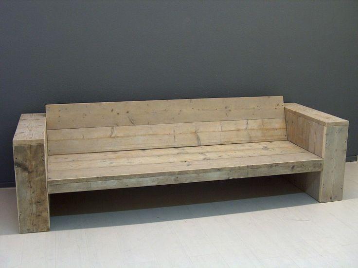 Lounge bank oud gebruikt steigerhout