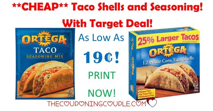 **PRINT NOW** Get Ortega Taco Seasoning for only 19¢ at Target! Get CHEAP Taco shells too! Stock the pantry!  Click the link below to get all of the details ► http://www.thecouponingcouple.com/target-deals-ortega-taco-seasoning-0-19-taco-shells-1-06/ #Coupons #Couponing #CouponCommunity  Visit us at http://www.thecouponingcouple.com for more great posts!