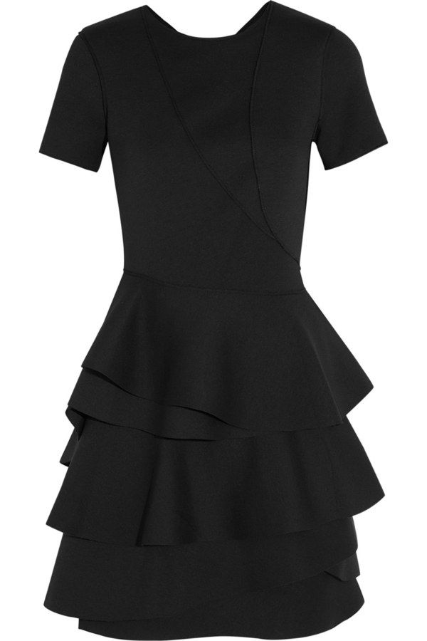 Ruffled stretch scuba dress from DKNY