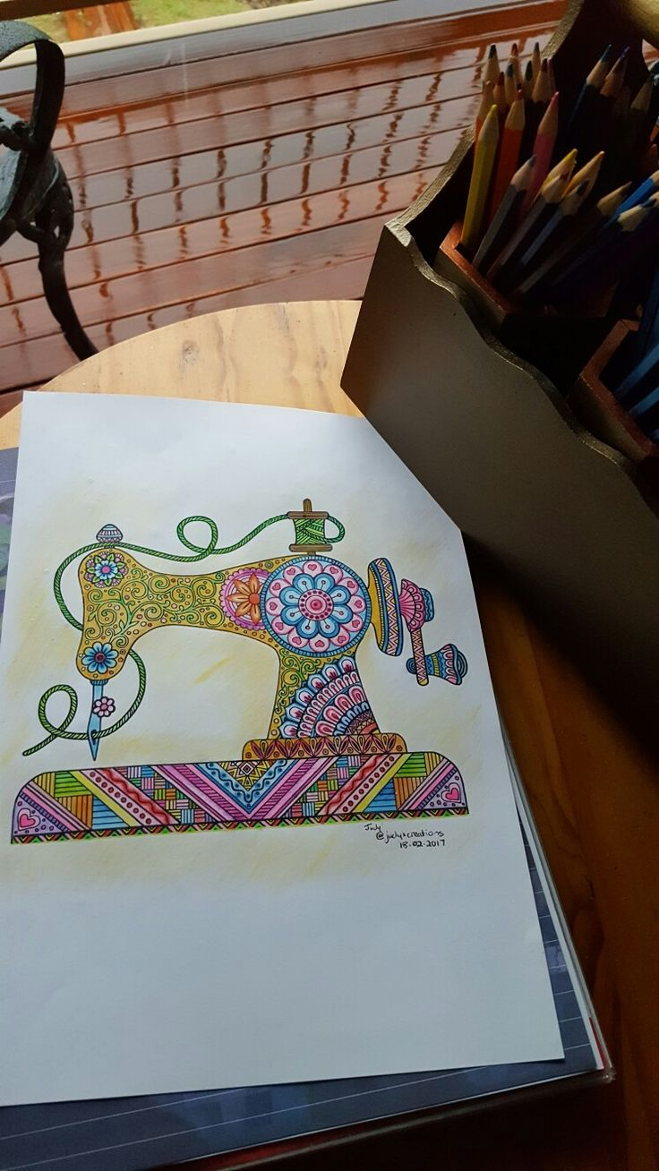 Coloring In - Art Therapy - Pretty Mean Machine (18 Feb 2017).... as per the quote 'To practice any art, no matter how well or badly, is a way to make your soul grow. So do it.' - KURT  VONNEGUT
