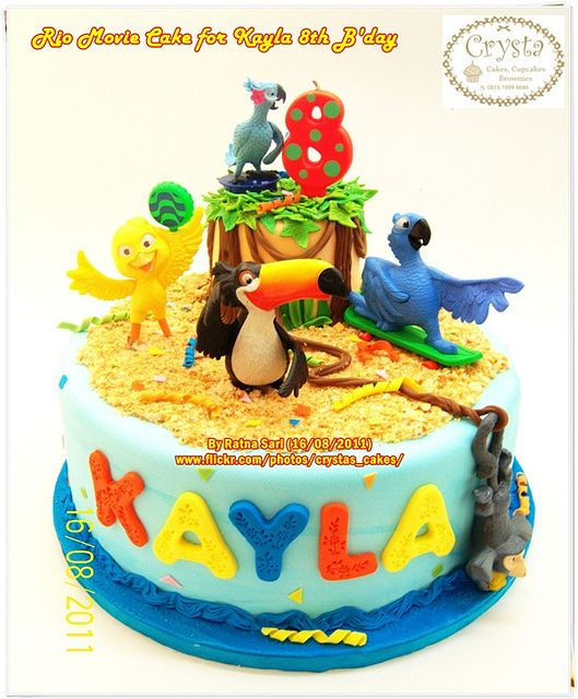 Rio Movie Cake for Kayla 8th B'day by Crysta's Cakes, via Flickr