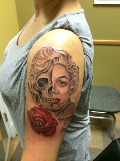 Marilyn monroe skull tattoo tattoos pinterest skulls for Marilyn monroe skull tattoos