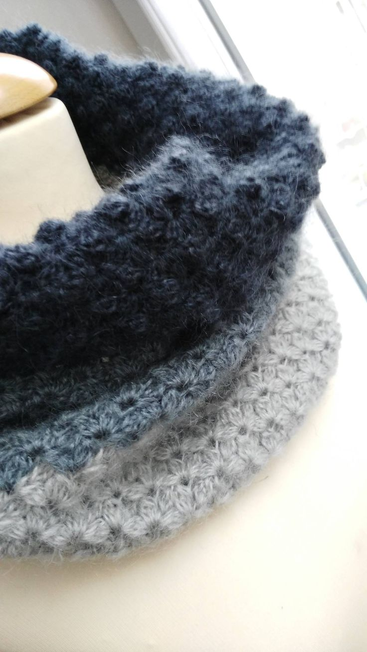 snood simple au crochet Plus