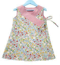 Criss-Cross Reversible Wrap Cruz sobre vestido instantánea Descargar PDF coser patrón niños niñas tamaños 1 2 3 4 5 y 6 de PeachPatterns en etsy