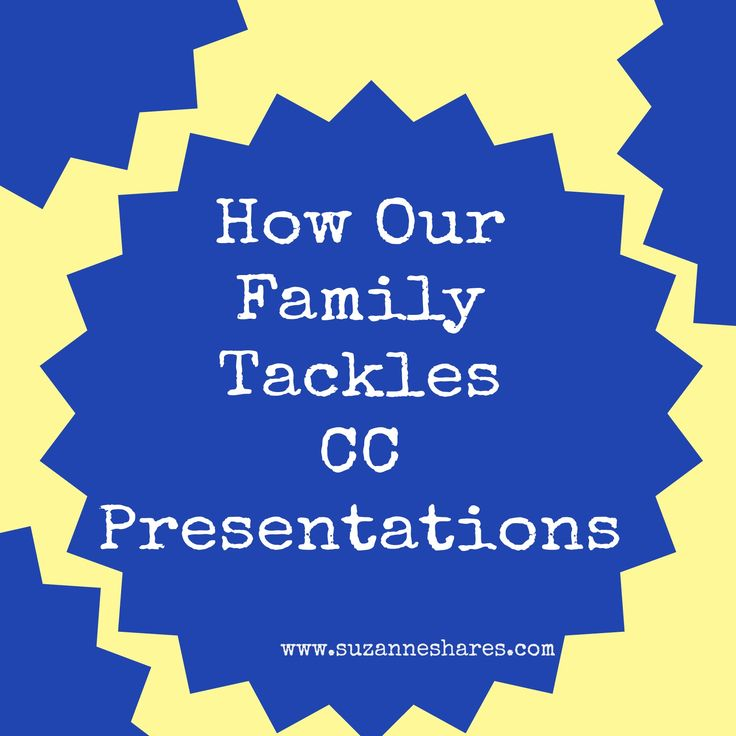 Suggestions for preparing CC presentations at home during the week