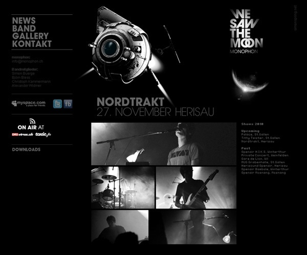 MONOPHON BAND - WEBSITE by simon spring, via Behance