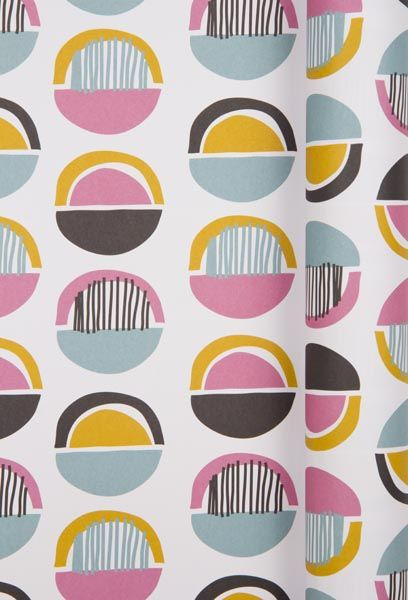 Diane Allan. Surface Pattern Designer ~ Kaleidoscope wrapping paper ~ Hemisphere