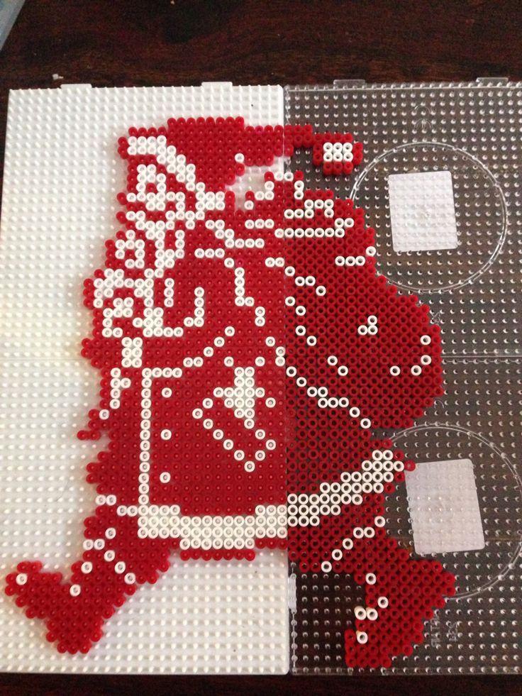 Christmas Santa hama perler beads by Dorte Marker