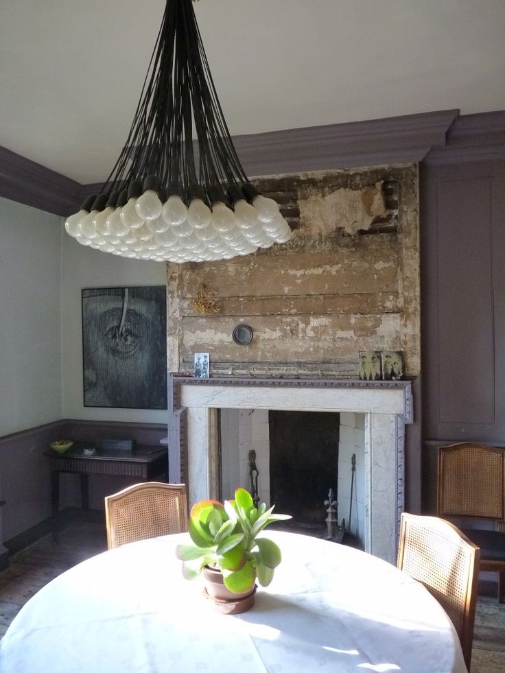 Romilly Saumarez Smiths Dining Room In London With Reinstated Fire Surround New Joinery Chimney Breast Paneling Left As Found