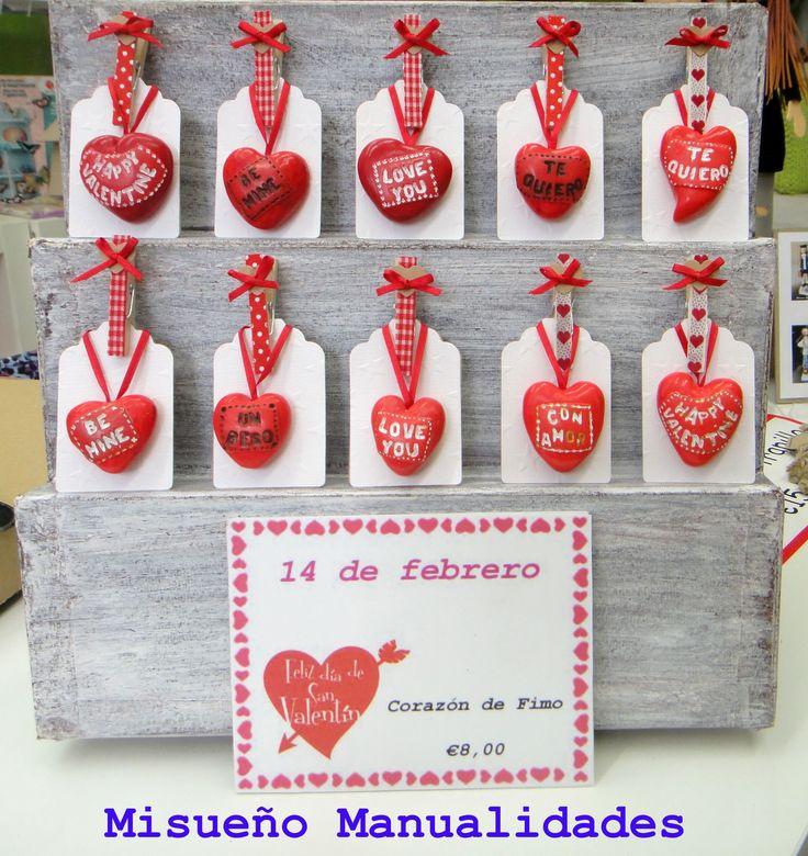 Febrero 2015: Corazones de Fimo para San Valentín, todos hechos a mano, cada uno es distinto.  www.misuenyo.com / www.misuenyo.es