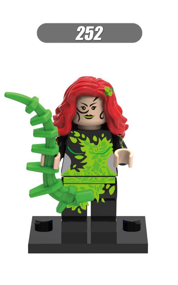 500 шт. хк 252 строительные блоки супер герой Deadshot ядовитый плющ женщина кошка джокер Minifigures DC супергерой модели детей кирпичи игрушки