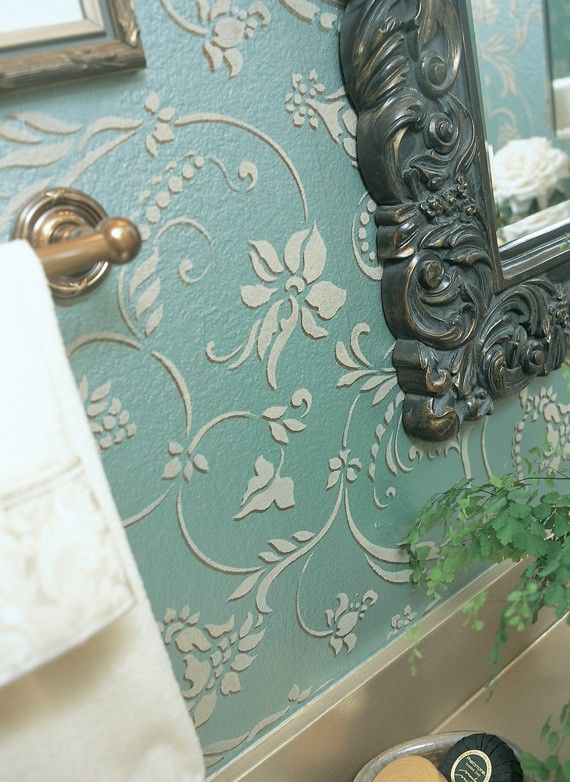 Wall Stencil Flourish Allover Damask Resuable Stencil for Wall Decor