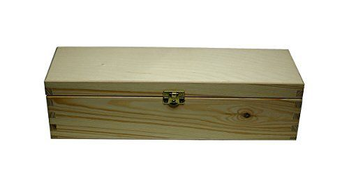 faba Home Boîte à vin en bois boîte cadeau boîte avec couvercle à clapet et fermeture, caisse en bois non traité, coffret cadeau: est fait…