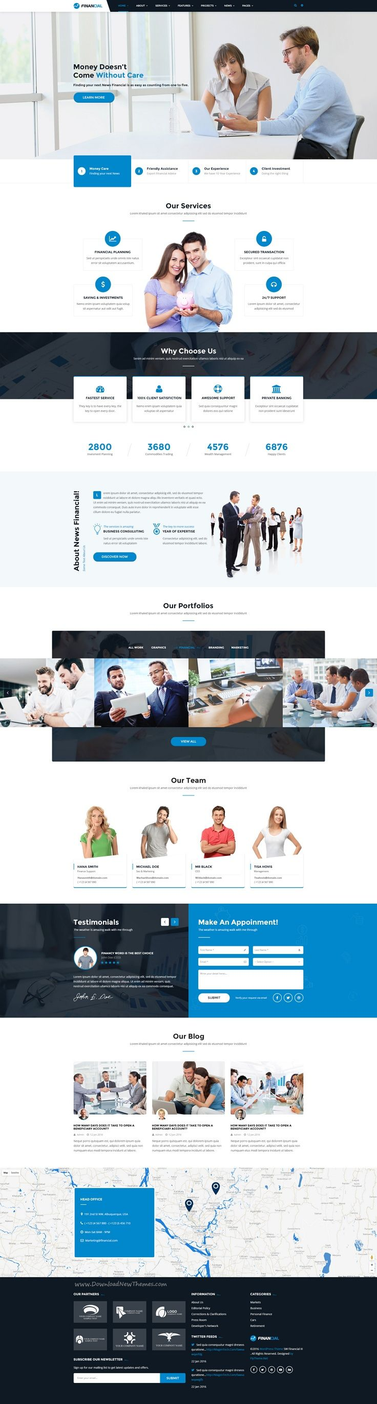 Financial III is clean and professional #PSD #template for #business & financial company website with 20 PSD pages download now➯ https://themeforest.net/item/financial-iii-business-financial-psd-template/16947510?ref=Datasata