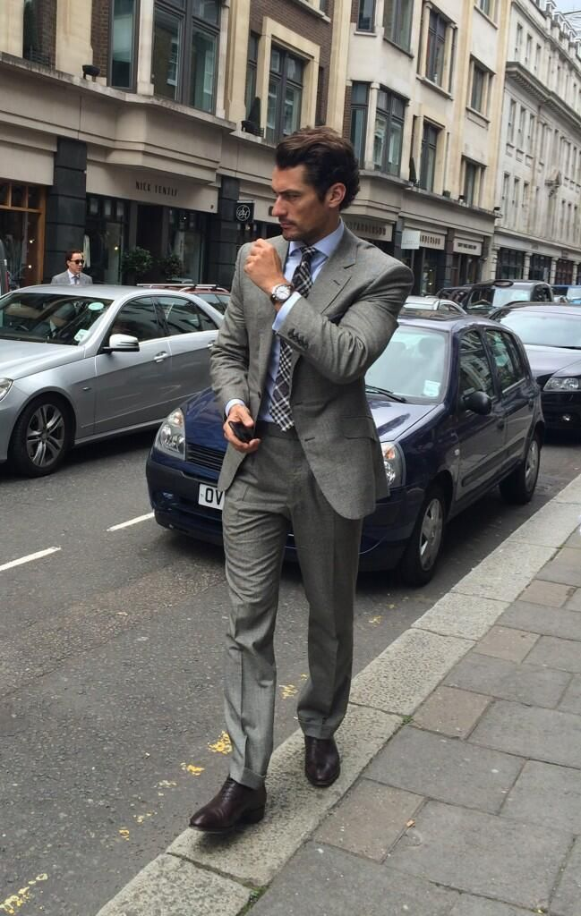 Twitter / thegentsjournal: Amazing collection at @SirHardyAmies. David Gandy on his way in looking dapper #lcm @Laura Terry @DavidGandyAsst - june 15, 2014