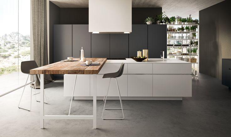 Modello Logica Soho di Alf Da Frè #cucina #legno #contemporanea #arredamento #madeinitaly #tavolo #legnomassiccio