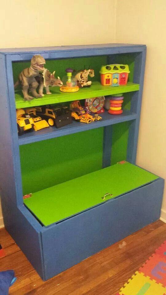 Soft White Kids Toy Chest Wood Box Bin Storage Organizer: Toy Box Book Shelf