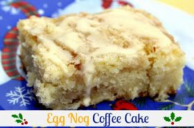 Egg Nog Coffee Cake. Best. Coffee cake. Ever. Hubby even asked me to make it again this weekend!